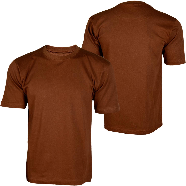Foto Hoodboyz Basic Blank Camisetas Altas Marrón