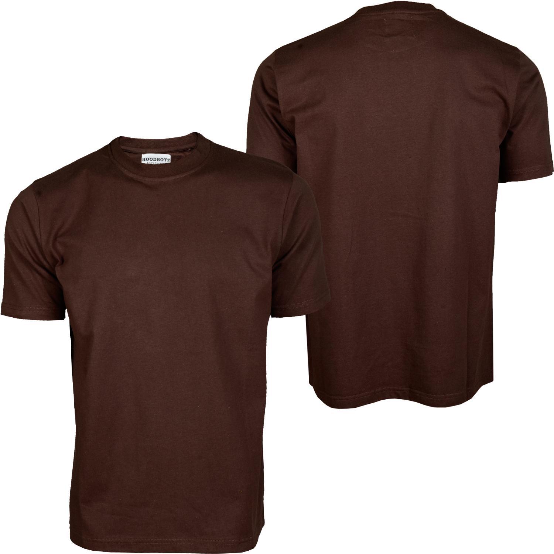 Foto Hoodboyz Blank Camisetas Altos Marrón Oscuro