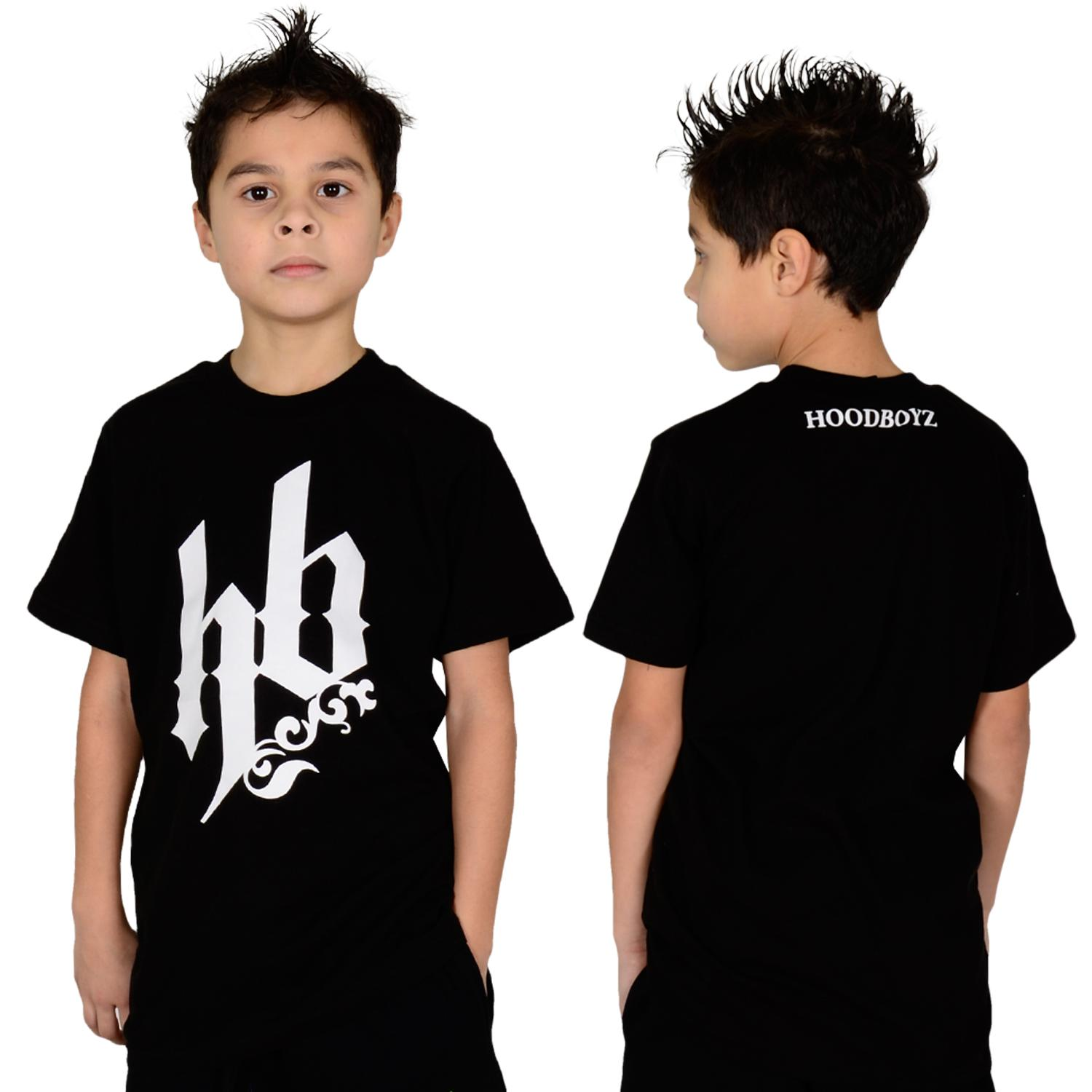 Foto Hoodboyz Kids The Original Big Logo T-shirt Negro Blanco