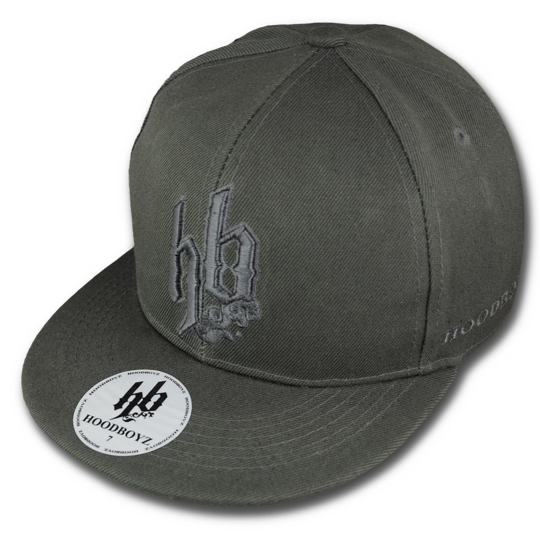Foto Hoodboyz Monochrome Big Logo Gorras Empotrados Gris Oscuro