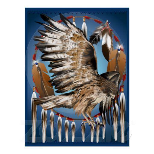 Foto Impresión de Dreamcatcher del halcón del vuelo Impresiones