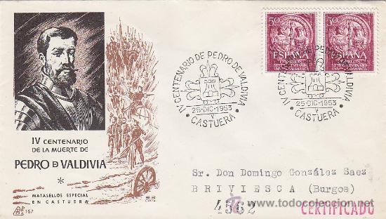 Foto iv centenario muerte pedro valdivia, castuera (badajoz) 1953 mat