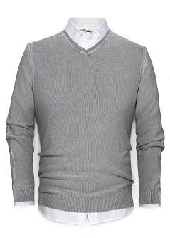 Foto Jersey Algodón Textura gris medio vigore H.E. by MANGO
