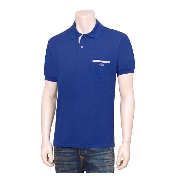 Foto Lacoste para hombre de Polo azul regular con un Pocket