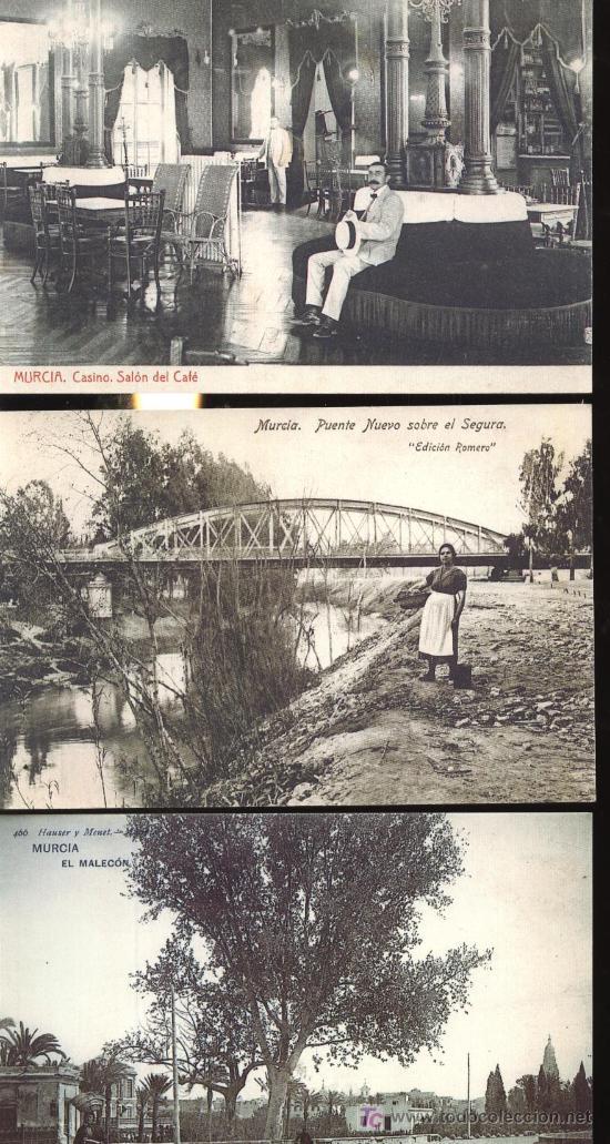 Foto lote de 28 postales antiguas de murcia reeditadas por la opinion