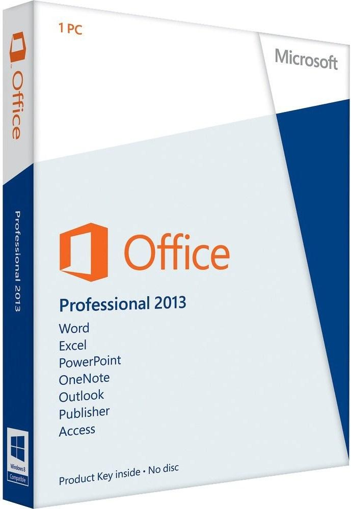 Foto Microsoft office professional 2013, 1pc, 1 usuario(s), 3000 mb,