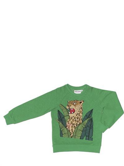 Foto mini rodini sudadera de algodón orgánico estampado jaguar