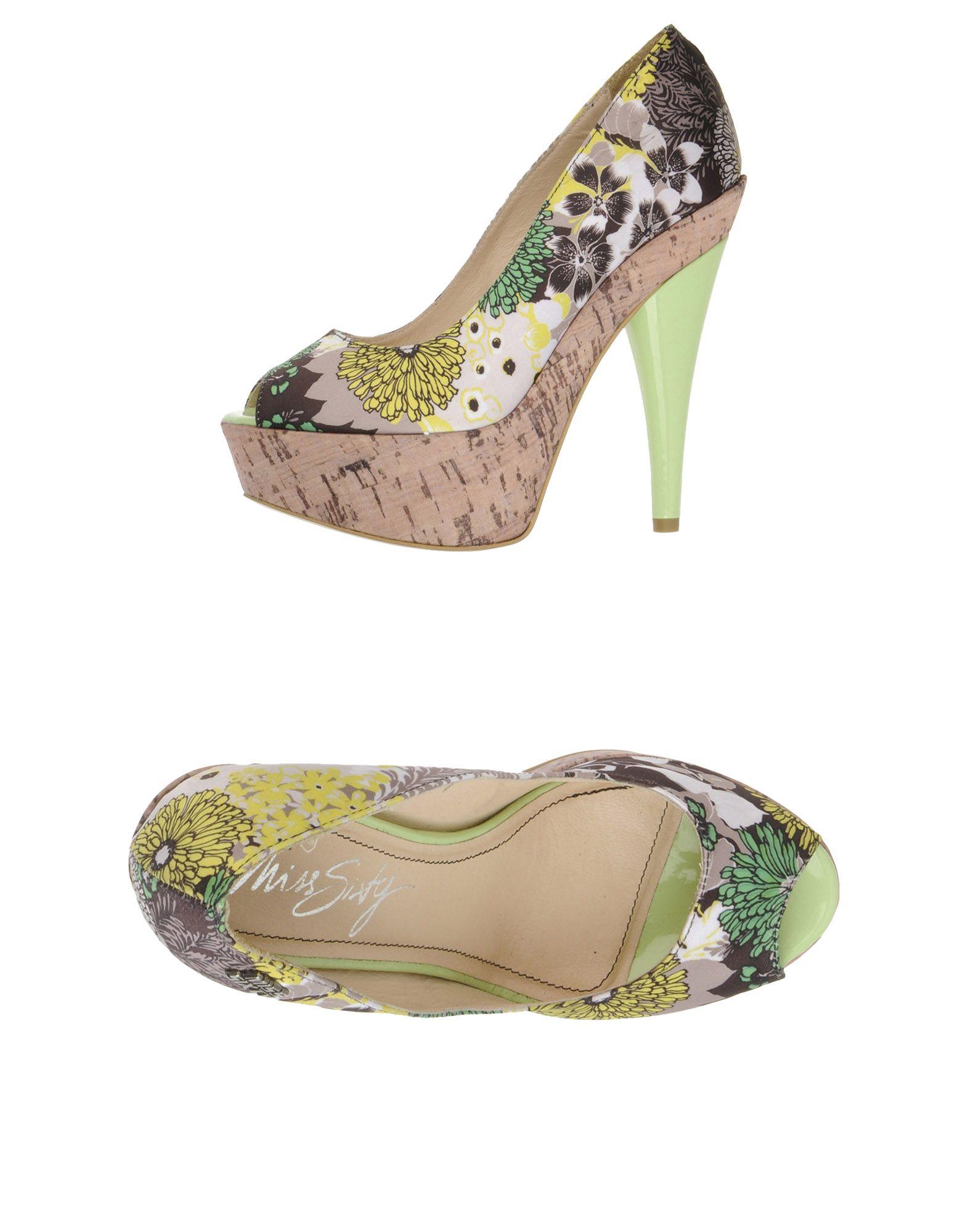 Foto Miss Sixty Peep Toes Mujer Verde