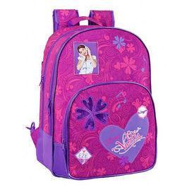 Foto Mochila Violetta Disney corazon grande 2 compartimentos