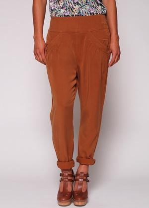 Foto Nümph Alex Pant Earth Brown XS - Pantalones,Pantalones de tela