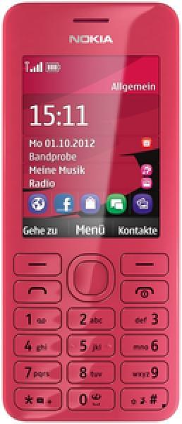 Foto Nokia 206 dual-SIM (fucsia)