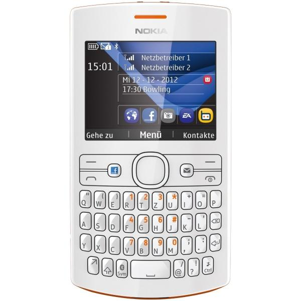 Foto Nokia Asha 205 (orange/blanco)
