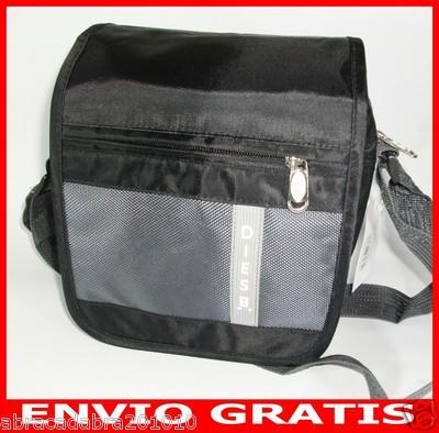 Foto Nuevo Bolso Bandolera De Colgar  Color Negro Y Gris  Para Hombre  24 X 18 Cm