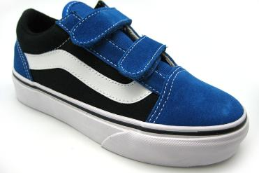 Foto Ofertas de zapatos de niña Vans Old Skool Velcro 40 azulon