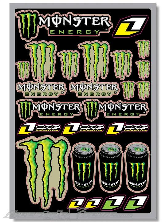 Foto Pack Pegatinas One Industries Monster Verde