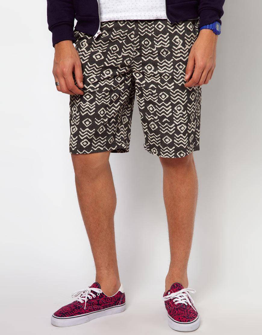 Foto Pantalones cortos chinos con estampado tribal Dewitt de Vans Negro/...