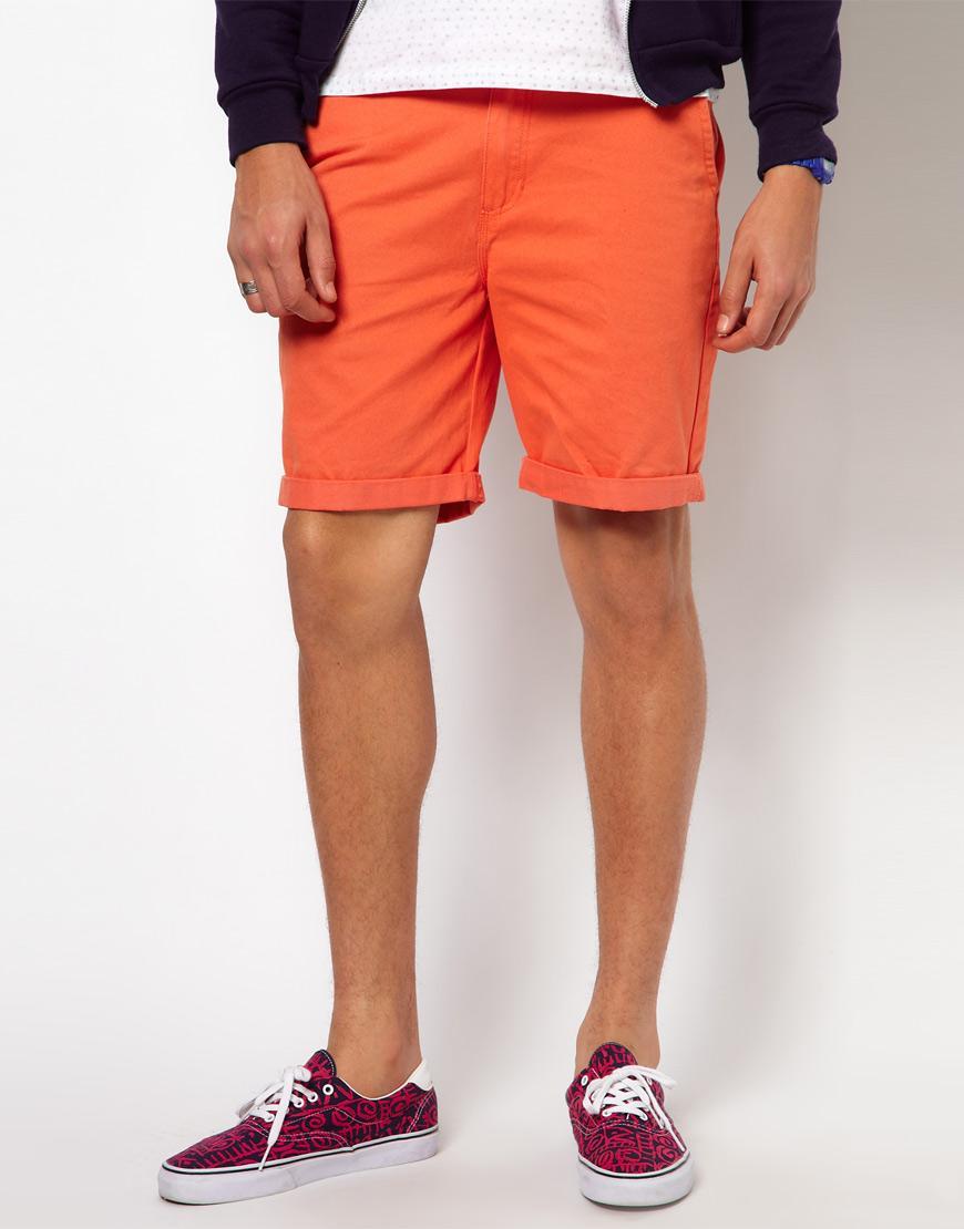 Foto Pantalones cortos chinos de sarga lavada Excerpt de Vans Nasturtium