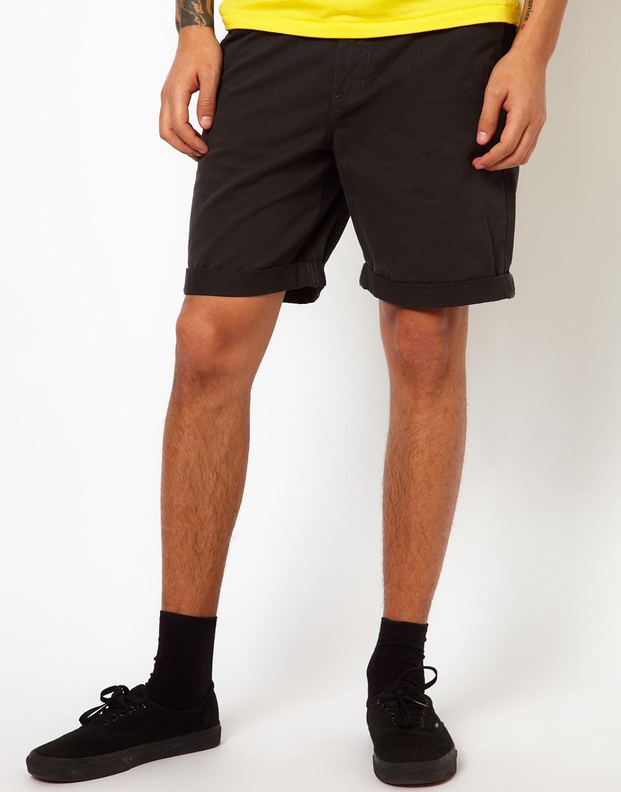 Foto Pantalones cortos chinos de sarga lavada Excerpt de Vans New charcoal