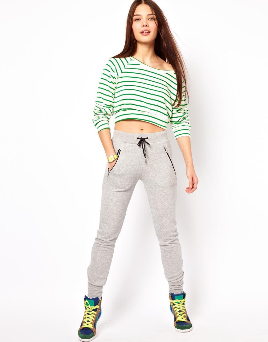 Foto Pantalones de chándal con cremalleras de Adidas Gris