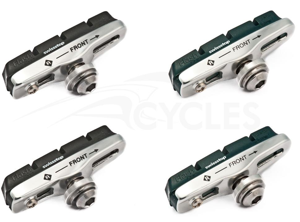 Foto Par de Zapatas Swissstop Full Flash Pro Aluminio-Negro