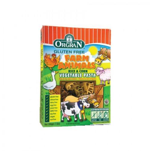Foto Pasta de animalitos de arroz y maíz con verduras 200 gr (Orgran)