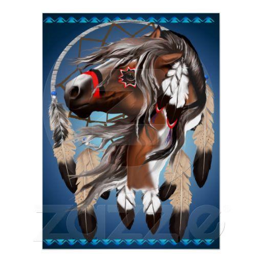 Foto Pinte la impresión de Dreamcatcher del caballo Poster