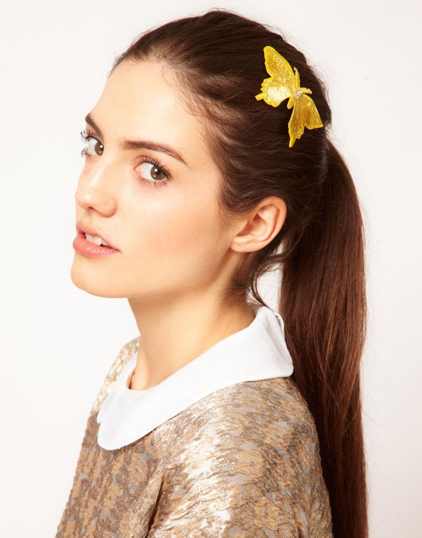 Foto Pinza de mariposa para el pelo de inspiración vintage de Johnny Lo...