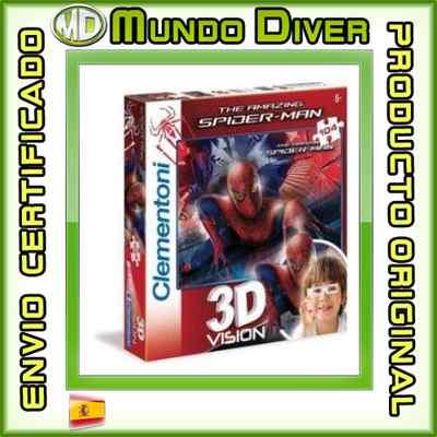Foto Puzzle 3d Vision (104 Piezas) - Spiderman - Nuevo - Clementoni Ref. 20050 Araña