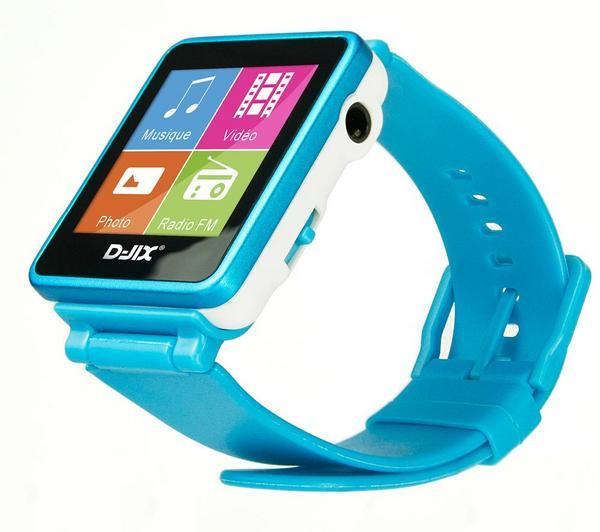 Foto Reloj MP3 FM 4 Gb - turquesa + Adaptador de toma jack 3.5mm