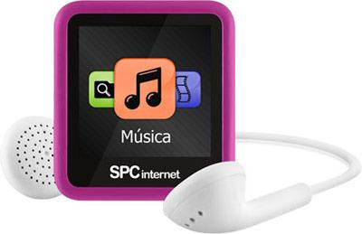 Foto Reproductor mp4 SPC INTERNET 8234p 4GB pink radio FM litio clip deport