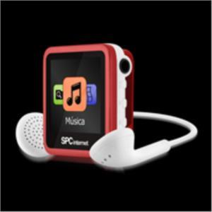 Foto Reproductor Mp4 Spc Internet 8gb 8238 Rojo Radio Fm Clip