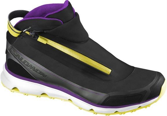 Foto Salomon Seven Ltd Cs damas zapatos negro/purpúra/amarillo