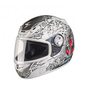 Foto Scorpion. Casco integral Exo 450 Gourou blanco