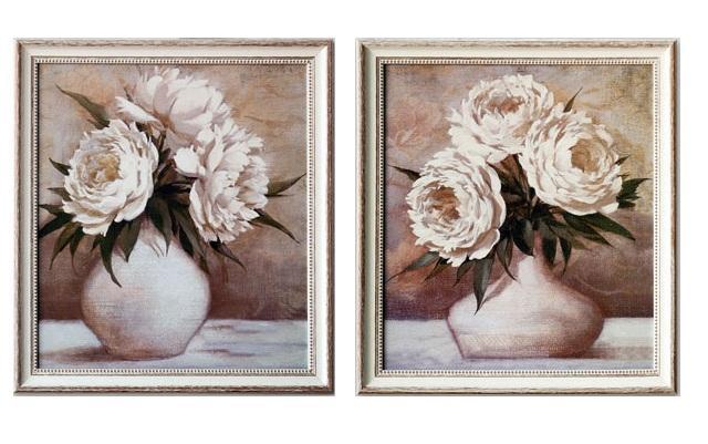Foto Set 2 cuadros jarron de flores