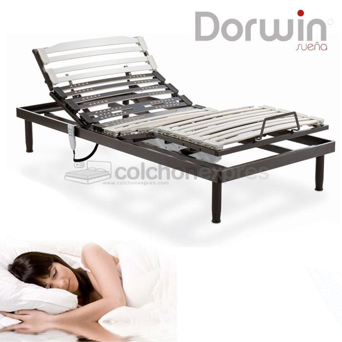 Somier Articulado Dorwin.Foto Colchon Dorwin Modelo Dv Fit Liso Viscoelastica 7cm Dorwin 7