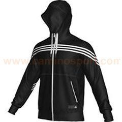 Foto sudadera adidas para hombre sf 3s fz hood negro/blanco (o56512)