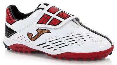 Foto táctil jr blanco rojo turf - zapatilla con velcro para ...