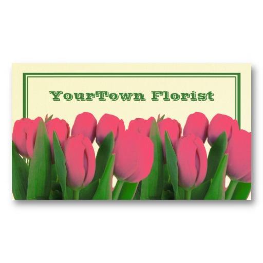 Foto Tarjeta de visita del florista - tulipanes de las