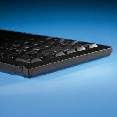 Foto teclado cherry tipo portatil con trackball usb negro