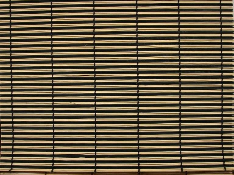 Foto Tejido de bambu bicolor negro-natural