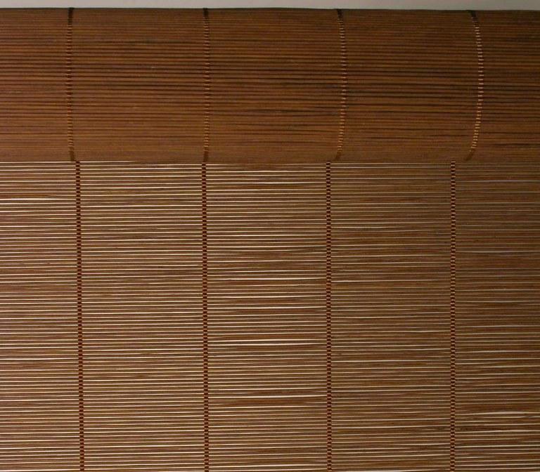 Foto Tejido de bambu marron