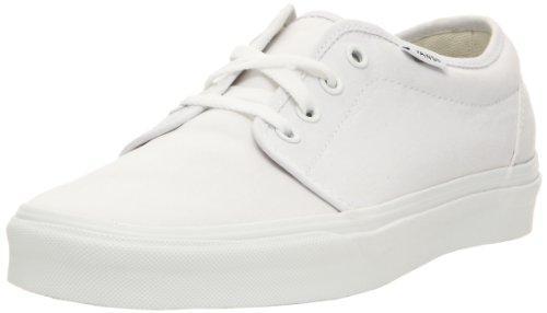 Foto Vans 106 - Zapatillas de skate con suela vulcanizada unisex, color blanco, talla 40.5