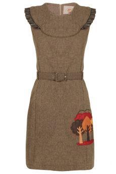 Foto Vestido mini volantes de lana