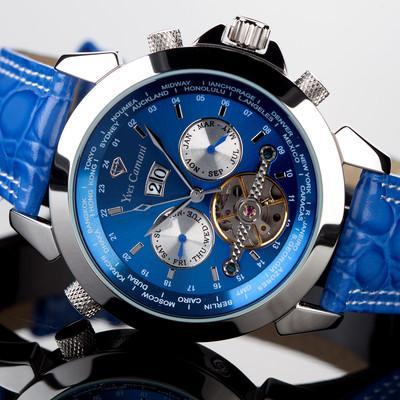 Foto Yves Camani  Reloj Hombre  Automatico  Acero Azul Nuevo