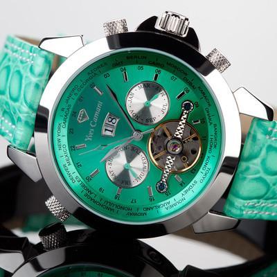 Foto Yves Camani  Reloj  Hombre Automatico Acero Verde Nuevo