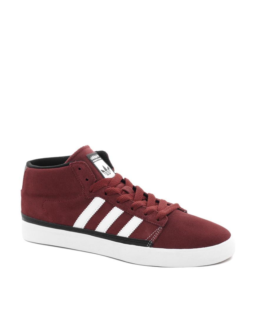 Foto Zapatillas de deporte hi-top Rayado de Adidas Originals Rojo