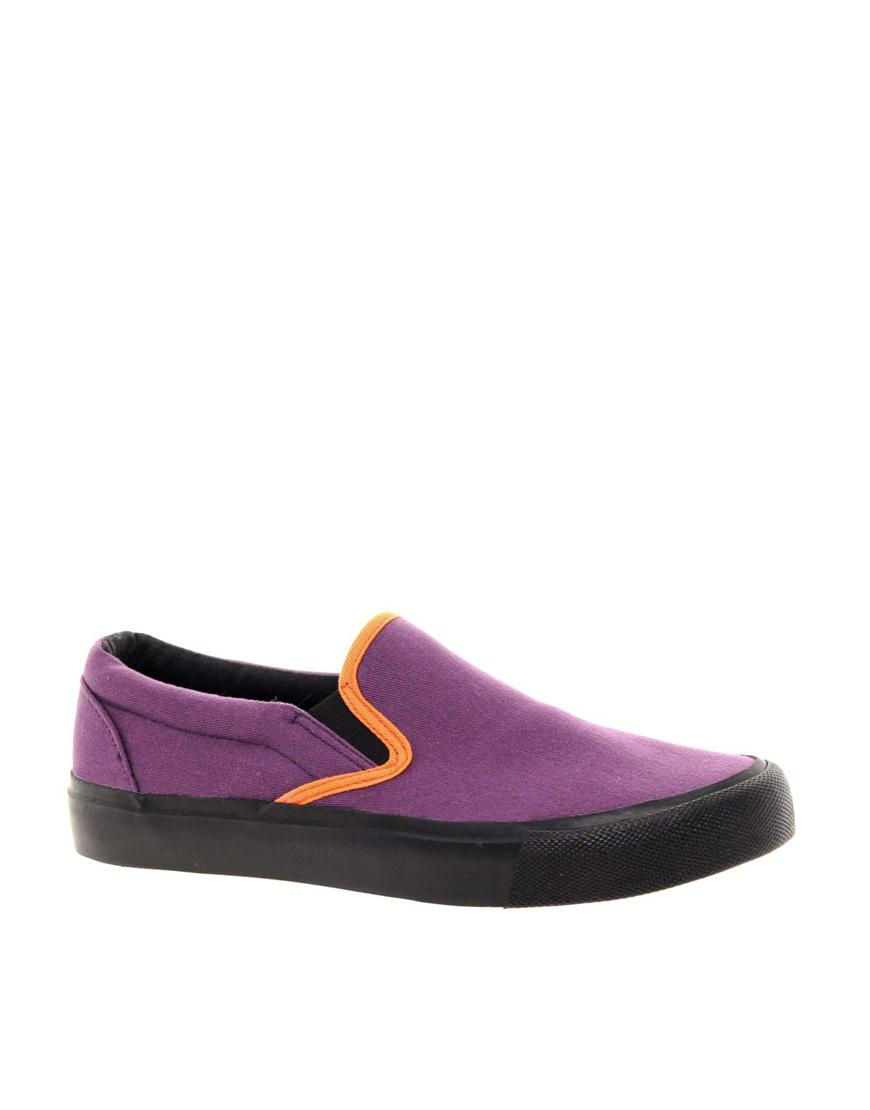 Foto Zapatillas de deporte sin cordones DIXON de ASOS Violeta