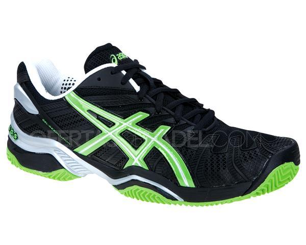 Foto Zapatillas de pádel Asics Gel Resolution 4 SG Negras/verdes