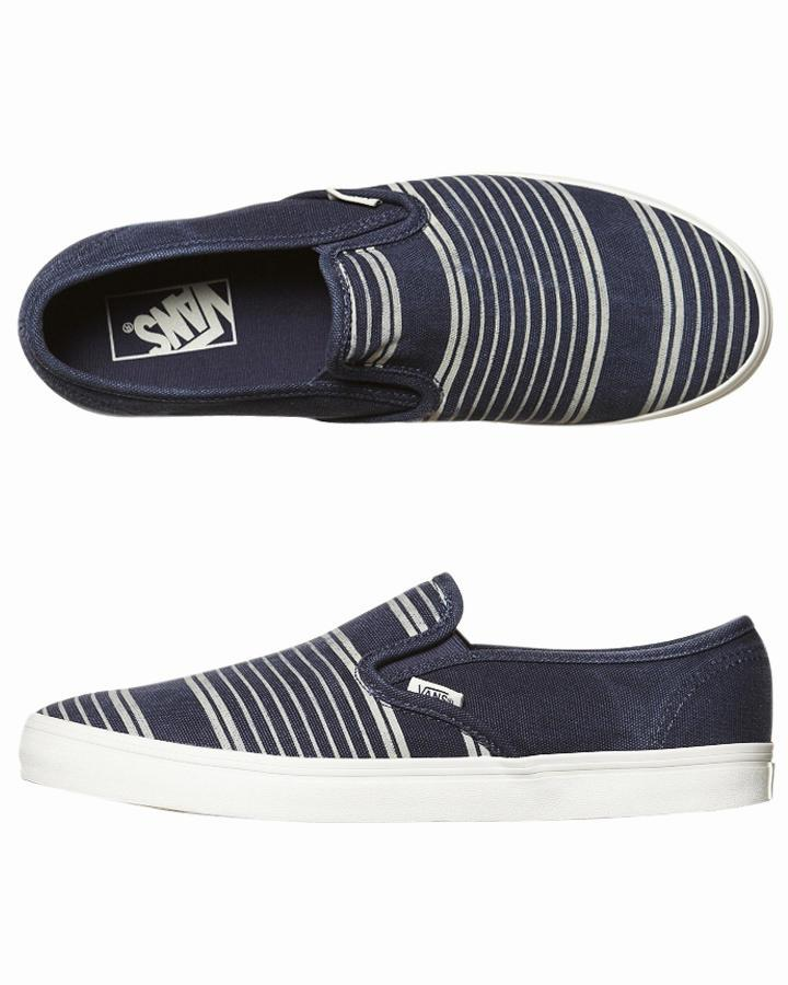 Foto Zapatillas Lp Slip De Vans - Navy Stripes