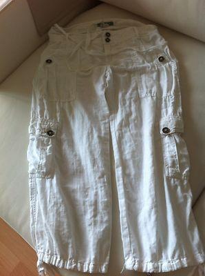 Foto Zara - Comodísimo Pantalón Pirata Multibolsillos Blanco - Talla 36  /// Trousers